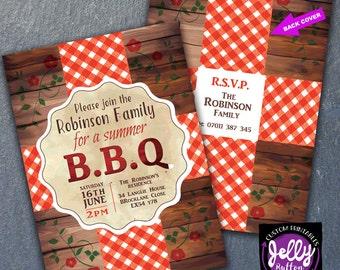 SALE!, BBQ Invite, BBQ Invitation, House Warming Invite, Family Party Invitation, Family Invite, Party Invite