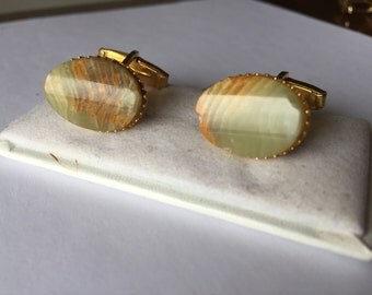 Cufflinks with stone jasper