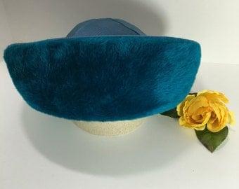 Vintage Teal Fleece Felt Women's Hat