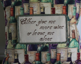 Wine lover throw pillow.
