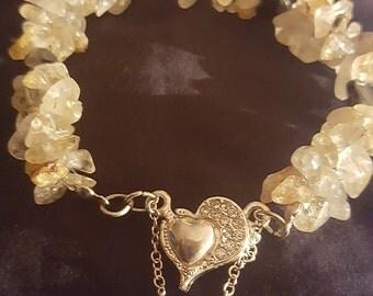 Rutilated and Tourmilated Quartz Bracelets