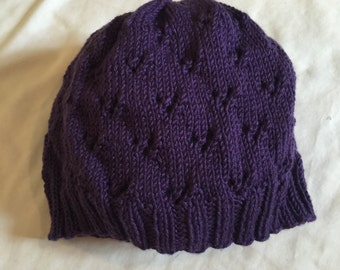Women's lace knitted hat