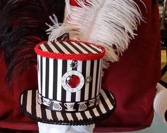Steampunk Striped Mini Top Hat