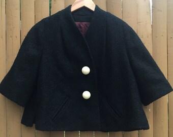 Vintage Black Short Sleeved Jacket