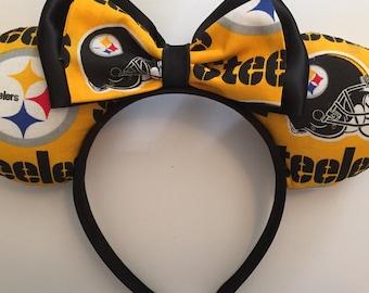 Disney/NFL Mashup Ears Pittsburgh Steelers Print