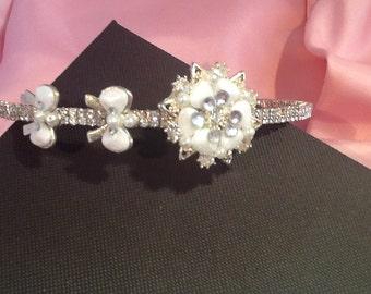 SALE: Wedding tiara, Bridal headband, Wedding hairband, Pearl tiara, Bridal tiara, Wedding tiara,  Bridal headband, Princess tiara