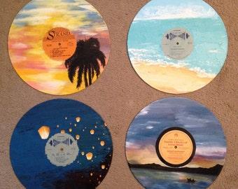 Custom Hand Painted Vinyl Records