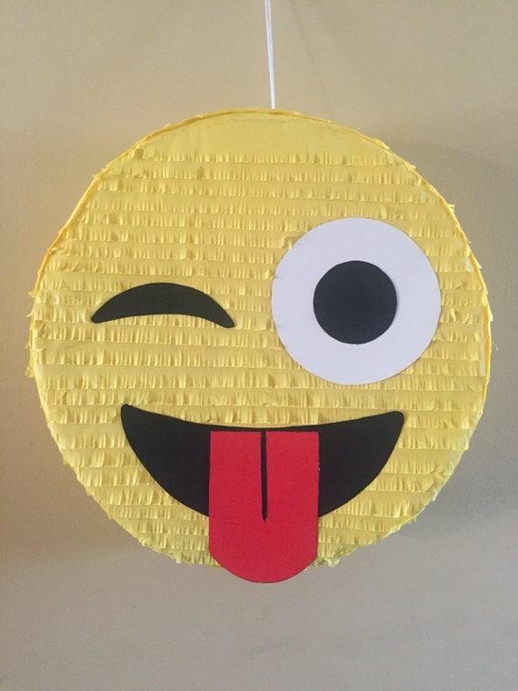 Eye Sticking out Emoji Pinatas
