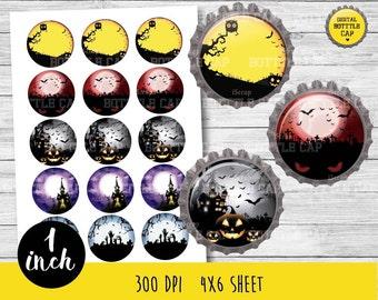 50% OFF SALE Halloween bottle cap-Halloween BottleCap-1 inch Bottlecap-Halloween bottleacap-Halloween 1 inch-COD71