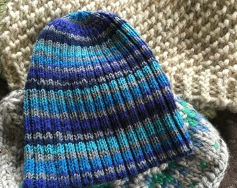 Homer Blue ribbed hat