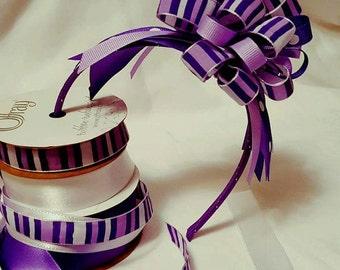 Purple striped and polka-dot