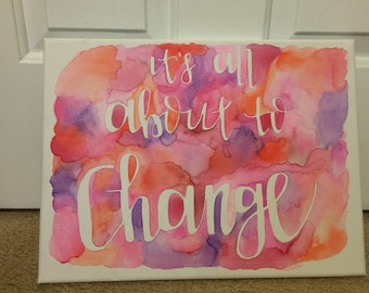 Change watercolor painting