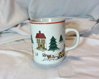 Vintage Jamestown China Magic of Christmas Stoneware Coffee Mug