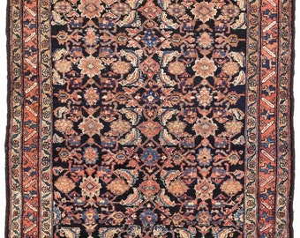 Rug #298 - Evenly Worn Antique Hand knotted Persian Hamadan Rug