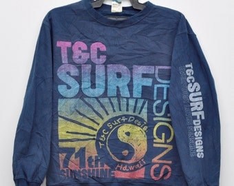 Vintage Town & Country Sweater Hawaii Sweatshirt Skate Surfing Hawaiian Ocean Pacific Hawaii Island Medium Size