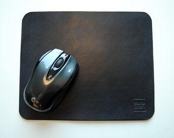 Leather mousepad, Leather mouse mat, leather mouse pad
