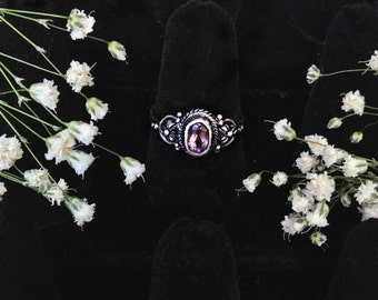 Alexandrite Sterling Silver Ring Size 7
