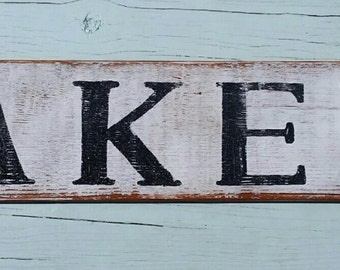 Hand painted, vintage barnwood 'Bakery' sign
