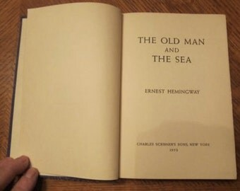 Ernest Hemmingway, Old Man and The Sea, First Edition 1932