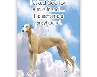 Greyhound True Friend Fridge Magnet No 2