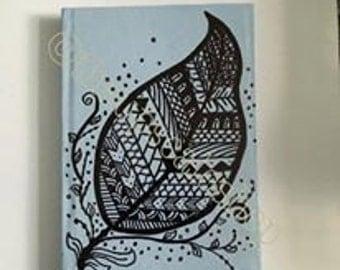 A6 Leaf Aztec Print Notebook