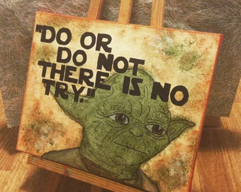 Yoda Quote Canvas: Star Wars Episode 5