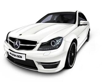 Mercedes Car Illustration Digital Download
