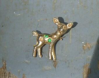 Small deer brooch