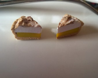 Miniature Lemon Meringue Pie Earrings / Necklaces / Charms