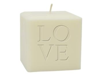 "3"" soy unscented Love candle"