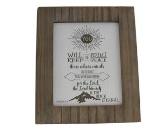 Hope/ Bible Verse Art on Wood/ Christian Gift/ Scripture Art/ Christian Sign/ Encouragement/ Isaiah