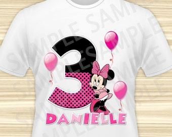 Minnie Iron On Transfer. Minnie Mouse Iron On Transfer. Minnie Mouse Birthday Shirt. Minnie Mouse Party. DIGITAL FILE.