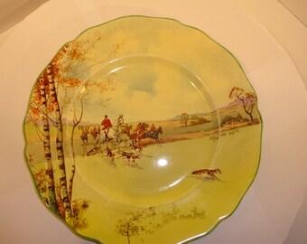 2 Royal Doulton 1930's Fox hunting Plates