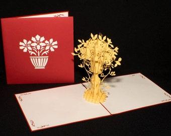 Flower 3-d pop up card