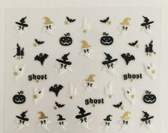 Halloween nail decals,stickers
