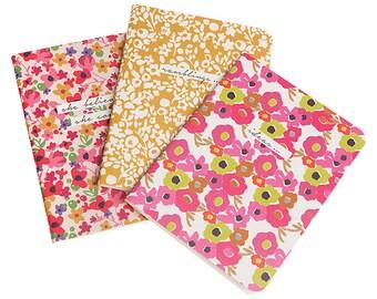 Caroline Gardner Ditsy A5 Notebooks, Set of 3