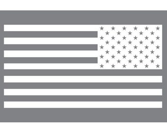 US Flag - Reverse  (Vinyl Decal)