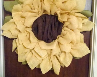 Bright and Cheerful Sunflower Wreath