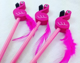 Funky Flamingo Pencil with Eraser Fun Kids Stationery, Office, Gift, Tropical