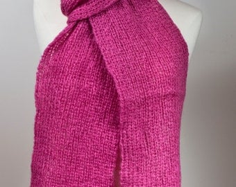 Neck Scarf in Fuchsia Pink