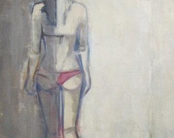 oil painting, semi ligh semi shadow, 2014 , 100x50