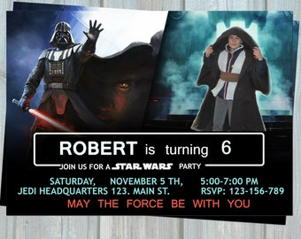 Rogue One birthday invitation, Star Wars personalized printable party invtation