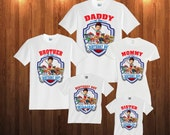 Paw Patrol Birthday Long Sleeve and Short Sleeve Shirt, Custom personalized t-shirts for all family, p2