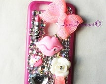 Glow in the dark, pink,, bling, iphone 6 case