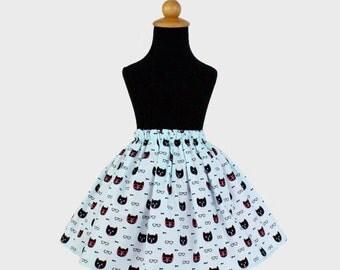 Spectacle Cat Girl's Skirt