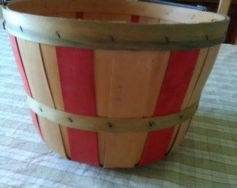 Vintage bushel basket