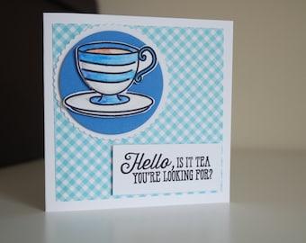 Tea blank card