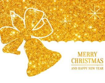 Postcard Christmas bell