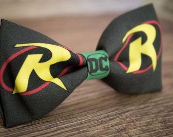 DC Justice League Robin Bow tie