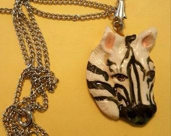 Porcelain Zebra necklace